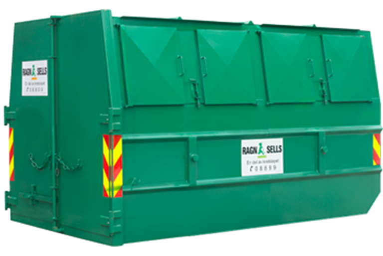 10m3 lukket liftcontainer