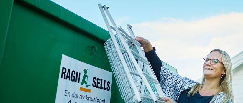 Containerutleie - leie av container fra Ragn-Sells AS.